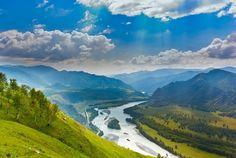 Katun river valley, +42 C (please enlarge!) / Долина Катуни, +42 C