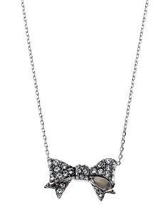 /designer-jewelry/necklaces for women/pave-bow-wish-necklace