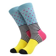 Happy Motif Socks Office Attire, Stripes Fashion, Fashion Socks, Winter Collection, Latest Fashion, Your Style, Dots, Men, Couple