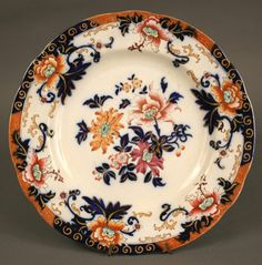 Cheap Price Pair Antique English Shallow Bowls Chinoiserie Style Decorated Imari 7 Inch Jade White Antiques
