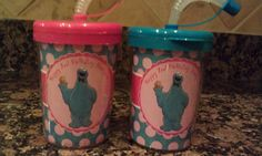 Cookie Monster Birthday Cups