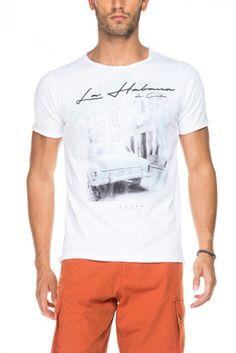 Salsa Store - T-shirt com gráfico frontal localizado Estampada, Masculino,  Salsa, 51df015e77