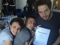 Being Human UK cast begins readthrough on series 5 ~ Kate Bracken, Michael Socha, Damien Molony