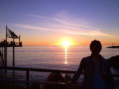 Great sun setting view in Redondo Beach.