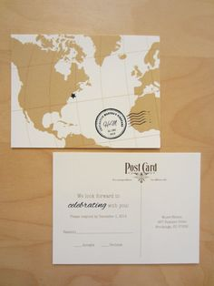 Traveler Wedding Invitation Ensemble by EnvisionWedding on Etsy, $2.95