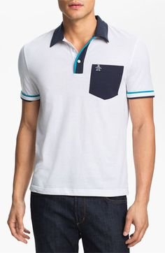 Original Penguin Perforated Polo available at Nordstrom