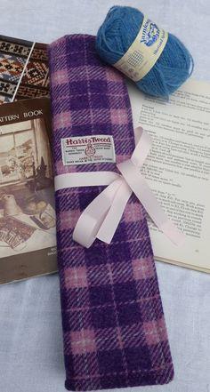 Harris Tweed Knitting Roll by TheFabulousMrG on Etsy, $70.00