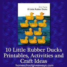 Ten Little Rubber Ducks Printables, Activities and Craft Ideas | Homeschool Giveaways
