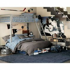 PB Teen NHL MN Wild bedding http://www.pbteen.com/products/minnesota-wild-duvet-cover-and-sham/?pkey=cguys-nhl-collection&group=1&sku=3853785