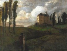 Benno Becker (German, Italian Landscape,N/D Oil on canvas, x 46 cm Klimt Art, Gustav Klimt, Mountain Landscape, Landscape Art, Art Uk, Oil On Canvas, Art Nouveau, Art Photography, Explore