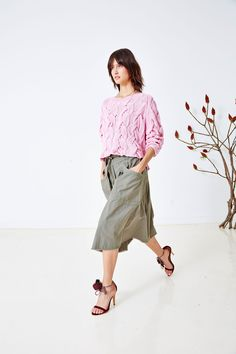 Ulla Johnson Pre Spring 2016 Collection - Rouen Pullover with Dinan Skirt and Reina Heel