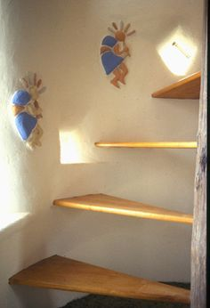 Cob house stairs