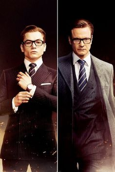 Eggsy Kingsman, Taron Egerton Kingsman, Kingsman Suits, Kingsman The Secret Service, Movies And Series, Colin Firth, Look At You, Manners, Movie Posters