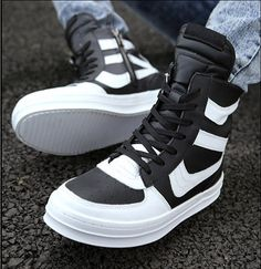 Rick owens hip-hop genuine leather fashion men Male shoes high casual martin boots for Autumn Winter $19.00 - 49.00