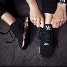 shoes adidas black and gold