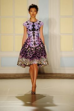 Temperley London - Runway: London Fashion Week SS14. LOVE, love, love, and adore this. #pattern