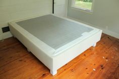 Box bed frame plans Here are fifteen dreamy and easy DIY designs You spend nearly one third of your life sleeping Pins about Bed Ideas hand picked Upholstered Box Springs, Upholstered Bed Frame, Upholstered Furniture, Box Bed Frame, Bed Frame Plans, Home Bedroom, Bedroom Ideas, Bedrooms, Bed Ideas