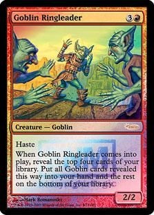 Magic The Gathering MTG 2x Goblin Ringleader (FNM Foil) Promotional Cards (Foil) Condition: NM/M $5.98