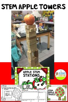 Fall STEM fun with apples! The perfect way to add interactive and hands on team building in your classroom! Apple towers, apple collector, and apple building STEM activities! #stemactivities #fallfun 2nd Grade Classroom, Classroom Games, Apple Building, Bulletin Board Tree, Science Activities, Science Lessons, Stem Projects For Kids, Science Stations, Creative Curriculum