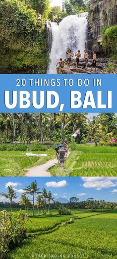 You might know the name from Eat, Pray, Love, but there's a lot more to Ubud, Bali than yoga! Here are 20 incredible things to do in Ubud while you visit. Bali Travel, Hawaii Travel, Stuff To Do, Things To Do, Slow Travel, Tours, Ultimate Travel, Ubud, Travel And Leisure