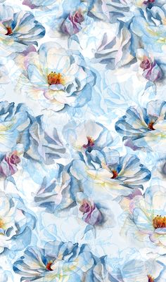 Watercolor roses pattern on Behance