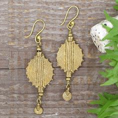 Indian tribal brass earringunique boho brass by artjuna on Etsy