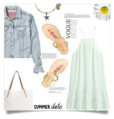 """Summer date"" by fantasticbabe ❤ liked on Polyvore featuring Lilly Pulitzer, H&M, G.H. Bass & Co. and Alex and Ani"