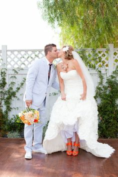 Flowers: Honey and Poppies - honeyandpoppies.com Photography: Jen Lauren Grant - jenlaurengrant.com Event Design + Planning: In the Now Weddings and Events - inthenowweddings.com/  Read More: http://www.stylemepretty.com/2012/02/15/backyard-california-wedding-by-jen-lauren-grant/