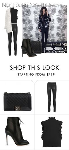 """""""Sin título #883"""" by amandasets ❤ liked on Polyvore featuring Chanel, Joseph, Gianvito Rossi, CO, Topshop, women's clothing, women, female, woman and misses"""