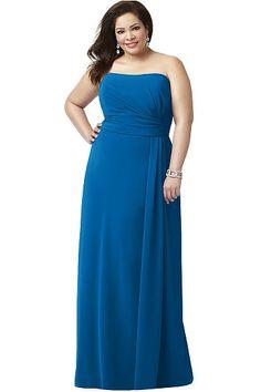 Plus Size Zipper Natural Sleeveless Bridesmaid Dresses