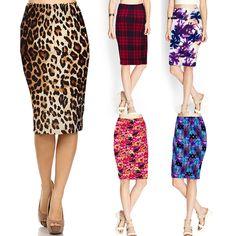 Women Summer Casual Floral Stretch High Waist Tube Dress Bodycon Pencil Skirts  | eBay