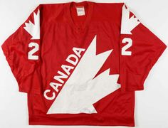 1981 Mike Bossy Canada Cup Team Canada Game Worn Jersey - Photo Match - Video Match Mike Bossy, Canada Cup, Sports Logos, Nhl, Olympics, Superstar, Hockey, Legends, Game