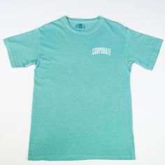 Washed Tee (Teal) - $25