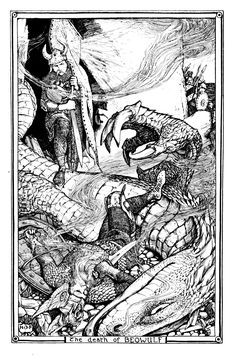 Henry Justice Ford   The Death of Beowulf