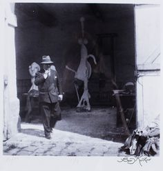 Boris KOCHNO (1904-1990)  Picasso sort de son atelier, 1930 Gelatin silver print, signed lower right, numbered 16/10 lower left, and monogrammed on the reverse  10.75 x 11 in. - 27 x 28 cm.   Provenance  Julian Barran London