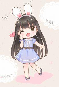 Manga Cute, Cute Anime Chibi, Kawaii Chibi, Cute Anime Pics, Kawaii Anime Girl, Anime Art Girl, Chibi Bunny, Chibi Girl, Kawaii Drawings