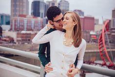 Nashville Wedding Photographers » We are the Nashville Tennessee wedding photography team specializing in engagement photography and wedding photographyNashville Pedestrian Bridge Engagement