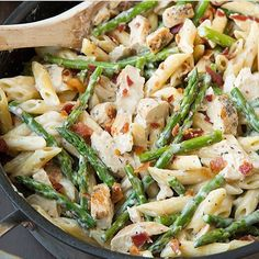 """23.9k Likes, 776 Comments - Rena (@healthyfitnessmeals) on Instagram: """"#cheatmeal❤️ . Chicken and Asparagus Pasta Made By @cookingclassy Follow @cookingclassy and visit…"""""""