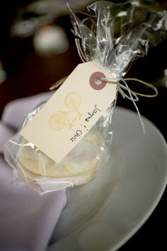 cookie favors w cute tag - can use key stamp (similar to Engagement Party)