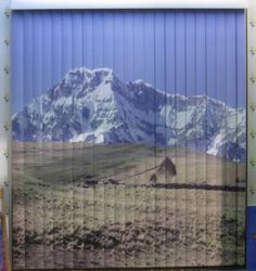 Nevado impreso sobre persiana vertical