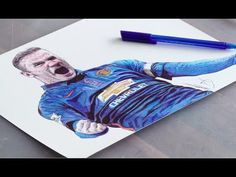 Pen Drawing Of Wayne Rooney - Manchester United - Freehand Art