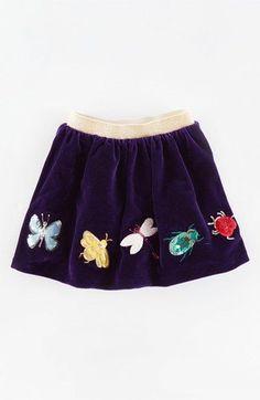 Mini Boden Velvet Appliqué Skirt (Toddler Girls, Little Girls & Big Girls) available at #Nordstrom
