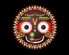 Jai Jagannath : Salve Senhor do Universo ( Lord of the Universe) Madhubani Art, Madhubani Painting, Mandala Art, Stage Yoga, Lord Jagannath, Cute Krishna, Krishna Art, Radhe Krishna, Ganesha Painting
