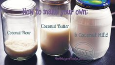 How to make your own coconut flour, coconut butter, and coconut milk. selbermachen, Coconut Milk and Coconut Flour Make Coconut Milk, Coconut Flour Recipes, Raw Food Recipes, Gluten Free Recipes, Cooking Recipes, Healthy Recipes, Coconut Oil, Cooking Chili, Scd Recipes