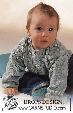 DROPS Baby - Free Knitting Patterns by DROPS Design DROPS set with textured pattern from saffron: sweater and socks Free patterns by DROPS Design. Always aspired to learn h. Baby Knitting Patterns, Baby Patterns, Crochet Patterns, Drops Design, Crochet For Boys, Knitting For Kids, Free Knitting, Boy Crochet, Designer Baby