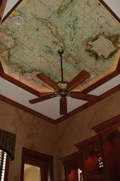 World map on the roof