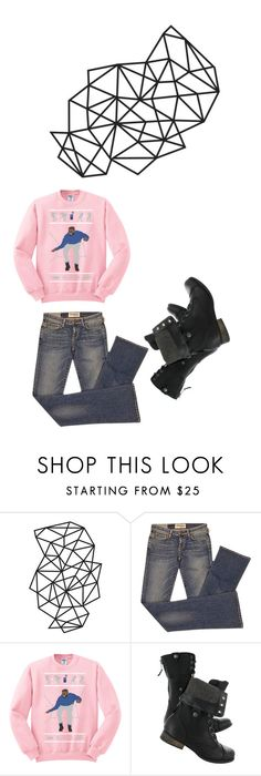 """Dance music. pink and black and denim and boots."" by kohlanndesigns on Polyvore featuring Elizabeth and James"