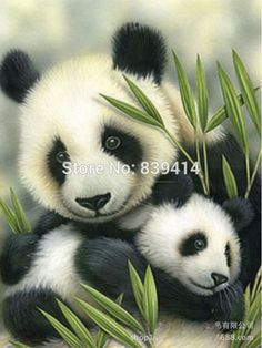 DIY Full Drill 5D Square Rhinestone Pasted Diamond Painting Panda And Mother Handcraft Accessories For Living Room Free Shipping