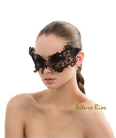#Etsy finds | Black Vintage French Guipure Lace Mask masquerade by ArturoRios, $185.00