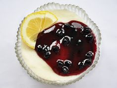 Semolina Pudding with Blueberry Jam